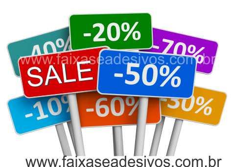 Adesivo de Vitrine Placas Sale - Varios Tamanhos S901  - Fac Signs