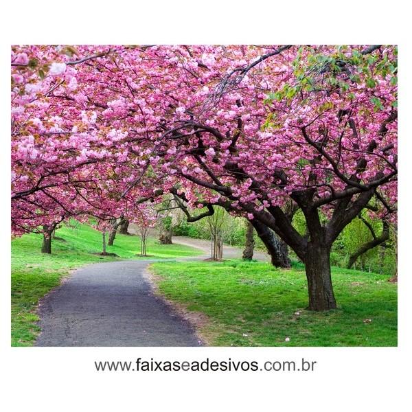 Vitrine Primavera Lona Decorativa 150x200  - FAC Signs Impressão Digital