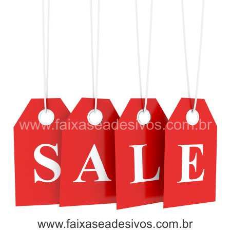 Adesivo de Vitrine - Tag Sale - Varios Tamanhos - S903  - Fac Signs