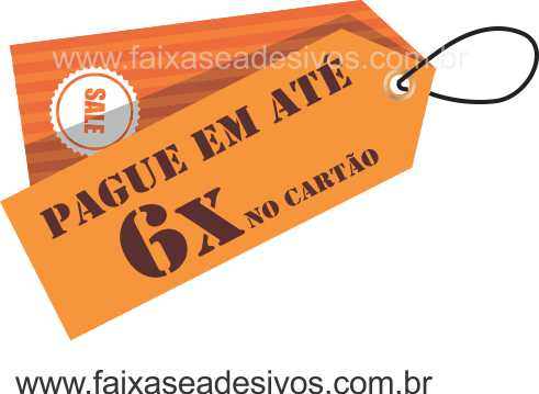Adesivo de Vitrine TAG - T509 - TROQUE O TEXTO  - Fac Signs