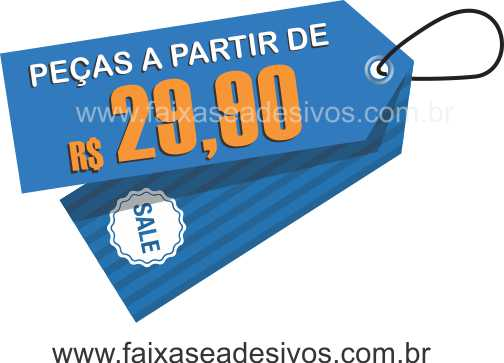 Adesivo de Vitrine TAG - T504 - TROQUE O TEXTO  - Fac Signs