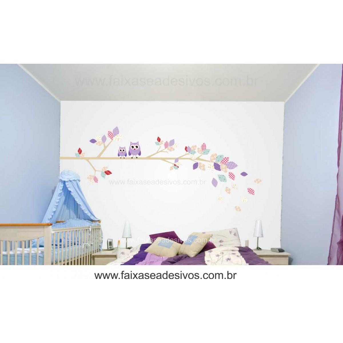 Galho de Retalhos Adesivo Decorativo - Escolha Tamanho - R086  - Fac Signs