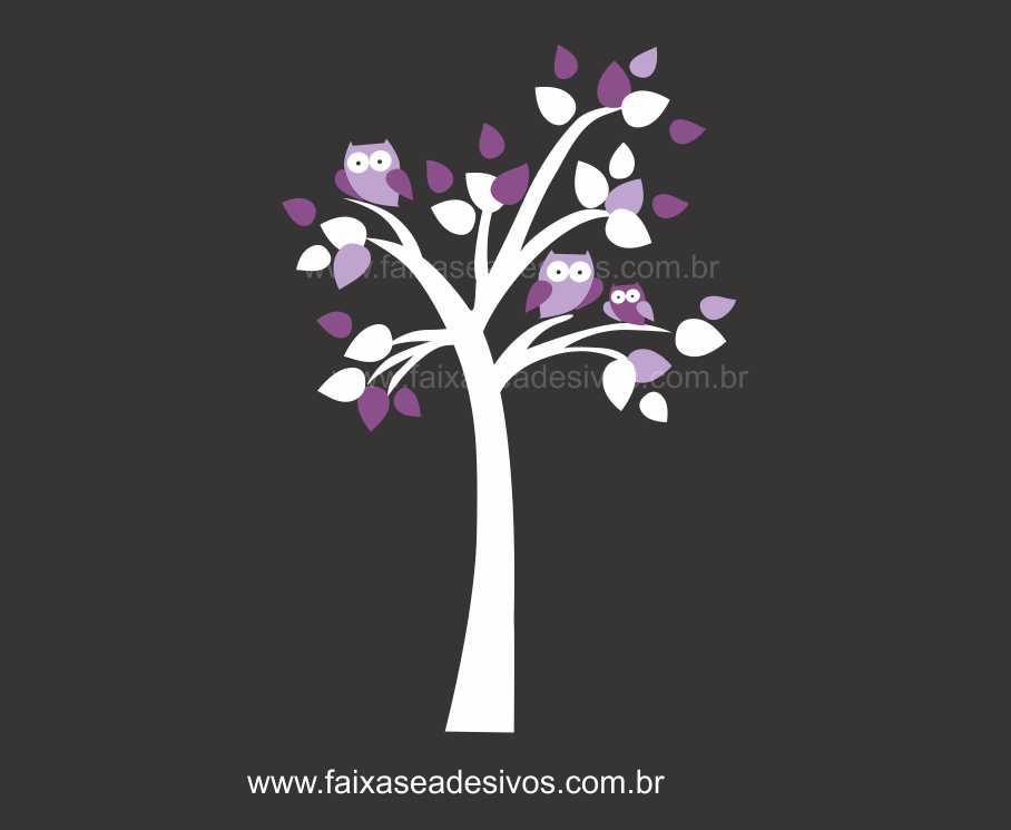 Arvore Familia Coruja - Escolha Tamanho e Modelo - R083  - FAC Signs Impressão Digital