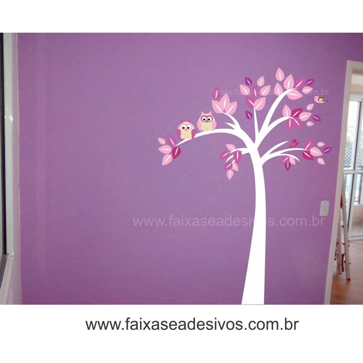 Arvore Corujinha - Escolha Tamanho e Modelo - R082  - Fac Signs