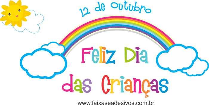 Adesivo Dia das Crianças Arco iris - Escolha o tamanho - C202  - Fac Signs