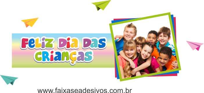 Adesivo Dia das Crianças Amigos - Escolha o Tamanho - C203  - Fac Signs