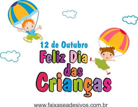 Adesivo Dia das Crianças Paraquedas - Escolha o Tamanho - C206  - FAC Signs Impressão Digital