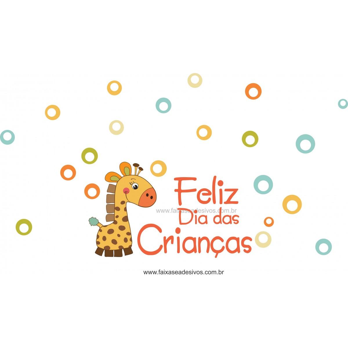 Adesivo Dia das Crianças Girafinha -Escolha o tamanho - D301  - FAC Signs Impressão Digital