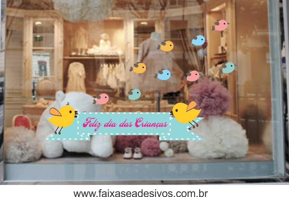 Adesivo Dia das Crianças Passarinhos - Escolha o tamanho - D303  - Fac Signs