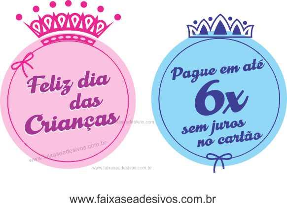 Adesivo Dia das Crianças Principe e Princesa - D306  - Fac Signs