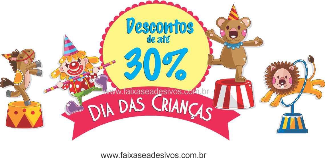 Circo adesivo para dia das crianças - D307  - FAC Signs Impressão Digital