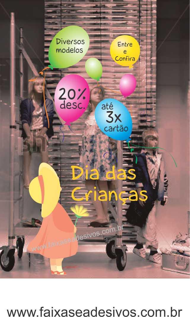 Adesivo de Vitrine - Menina dos Balões Adesivo - D311  - Fac Signs