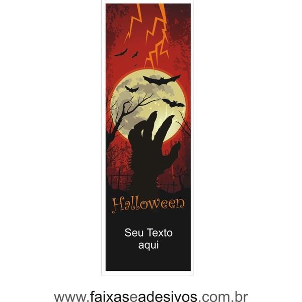 Halloween Lona Decorativa 70x210cm - com dupla face para fixação  - FAC Signs Impressão Digital
