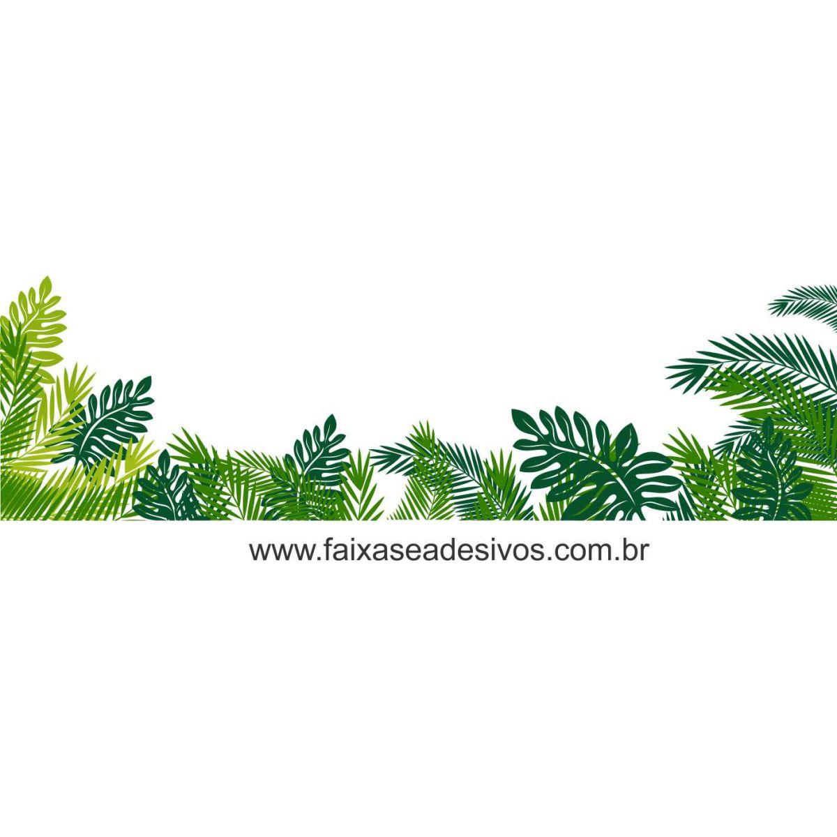 Adesivo de Vitrine Folhas Verdes - B105  - Fac Signs