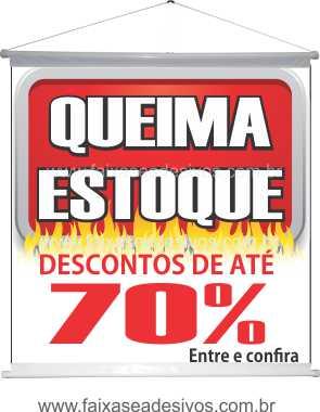 Banner Queima de Estoque 70x70cm - Q303  - Fac Signs