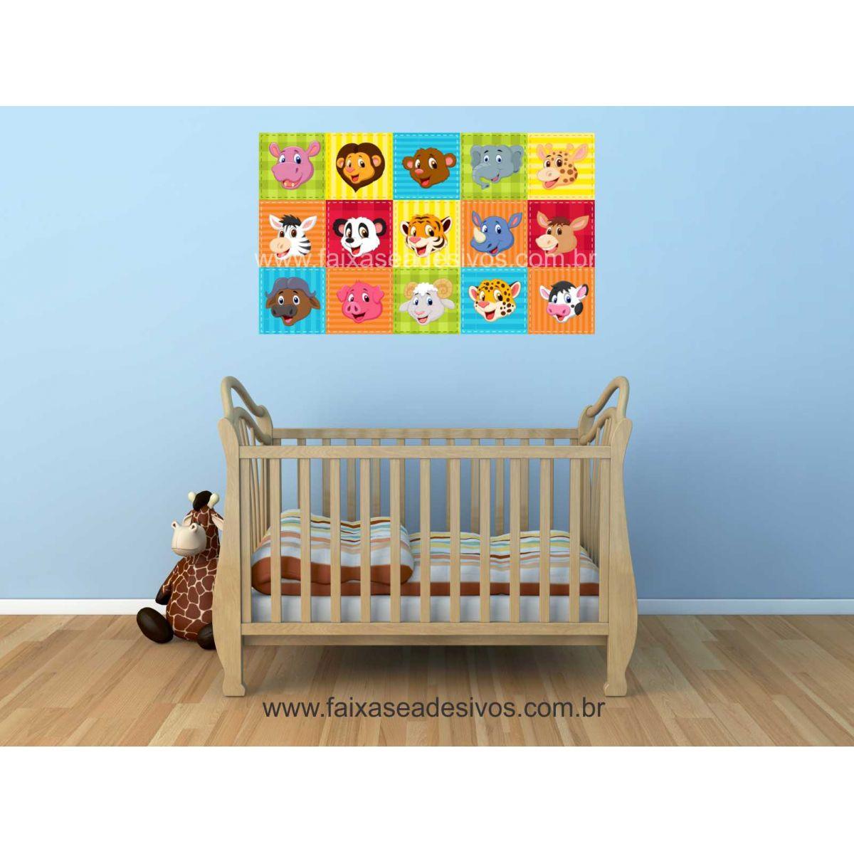 Artesanato Valença Rj ~ Adesivo Decorativo de Parede Infantil Cores 1,20×0,70m P104 FAC Signs Impress u00e3o Digital