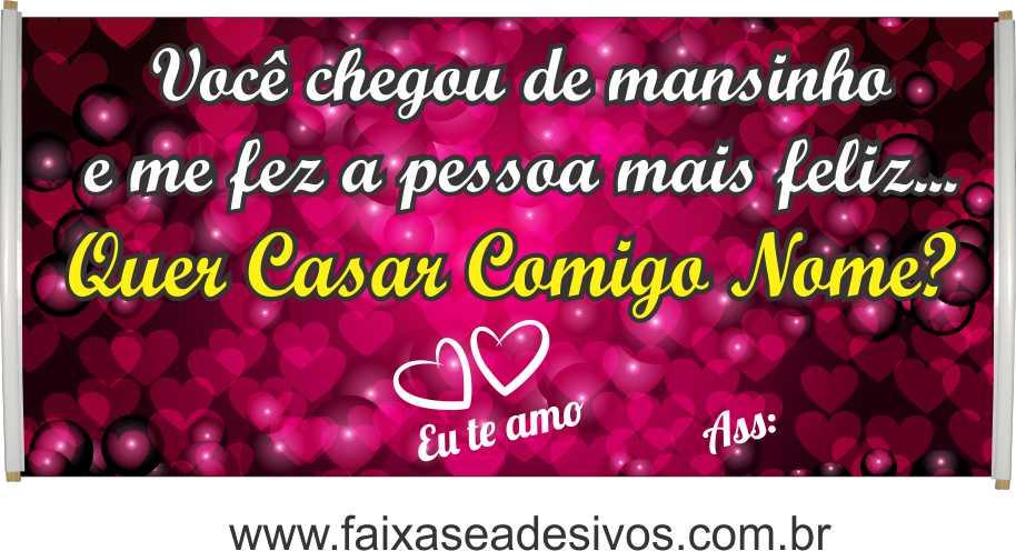 Faixa Mansinho - F101  - FAC Signs Impressão Digital