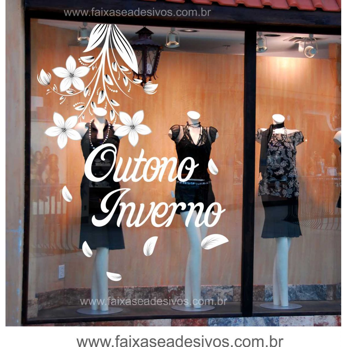 Adesivo Rivastigmina Bula ~ Adesivo Flor de Outono A2216 FAC Signs Impress u00e3o Digital