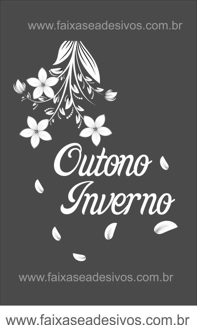 Adesivo Flor de Outono - A2216  - Fac Signs