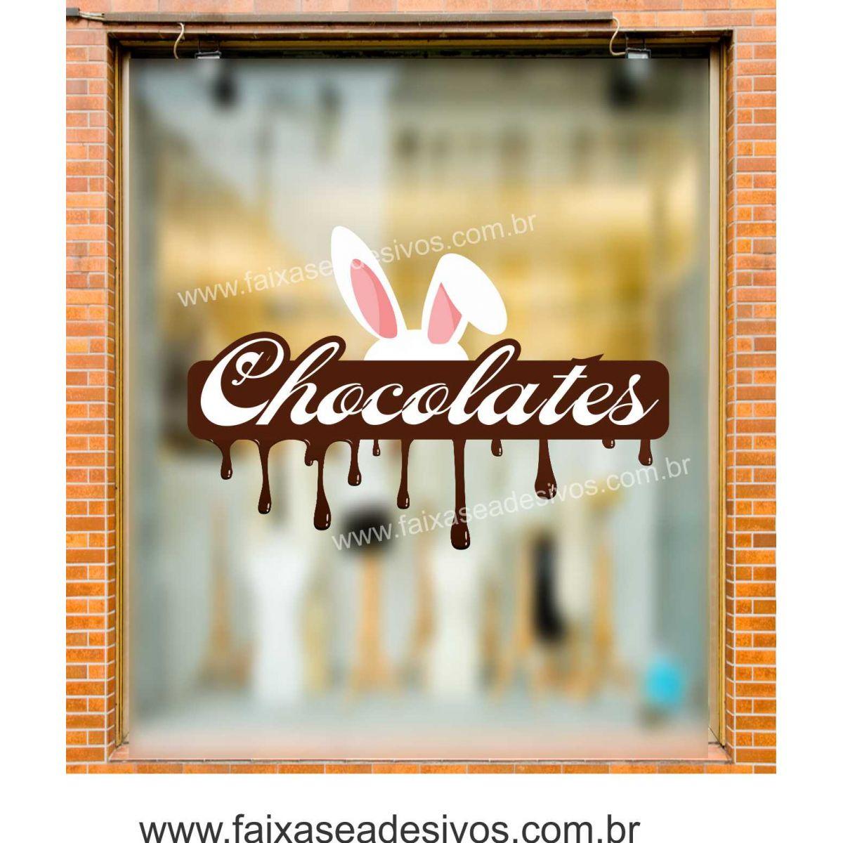 AP402 - Adesivo para Páscoa Chocolate Derretido  - Fac Signs