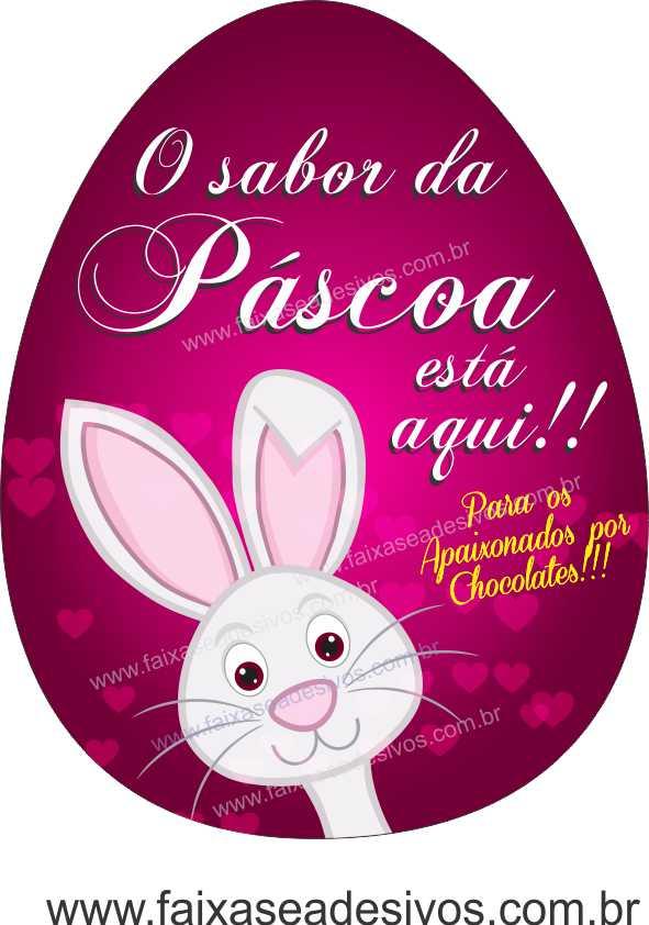 AP405 - Adesivo para Páscoa - Amor por chocolate  - Fac Signs
