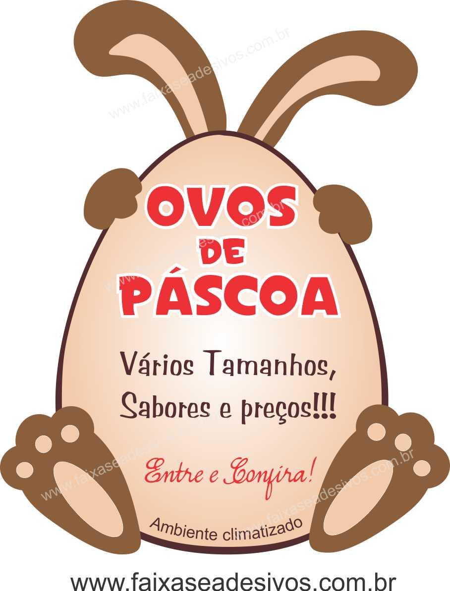 AP406 - Adesivo para Pascoa - Ovos de Páscoa  - Fac Signs