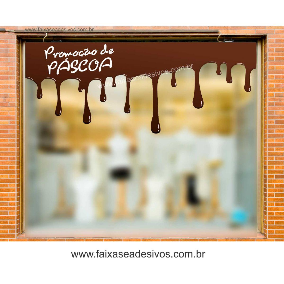 AP414 - Adesivo de Páscoa - Chocolate derretido - o metro  - Fac Signs