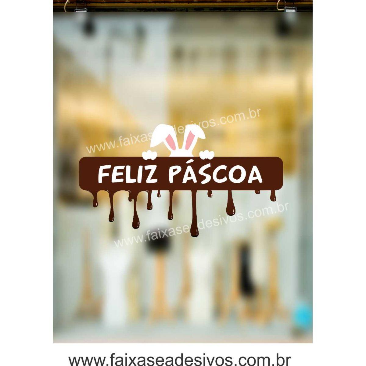 AP415 - Adesivo Feliz  Páscoa cobertura de Chocolate  - Fac Signs