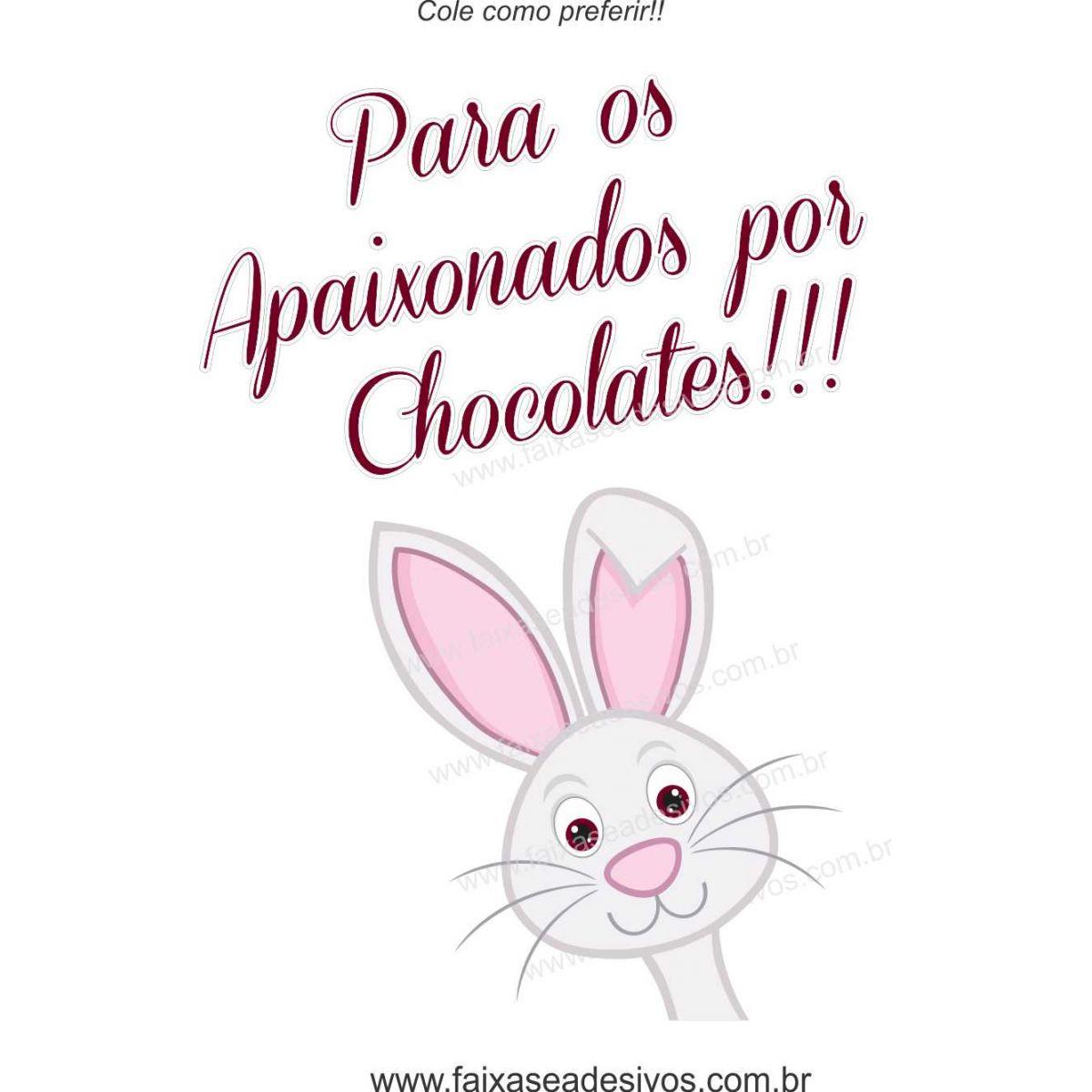 AP417 - Adesivo Apaixonados por Chocolate  - Fac Signs
