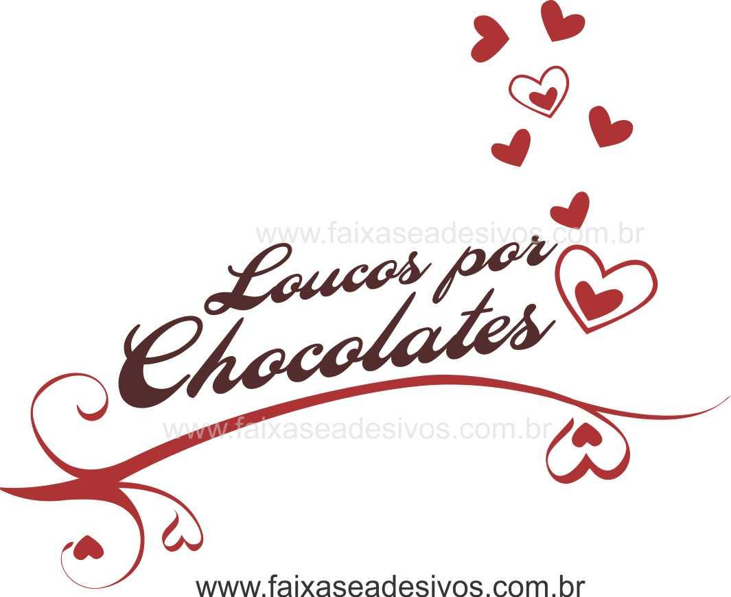 AP418 - Adesivo Decorativo de Páscoa - Loucos Por Chocolate  - FAC Signs Impressão Digital