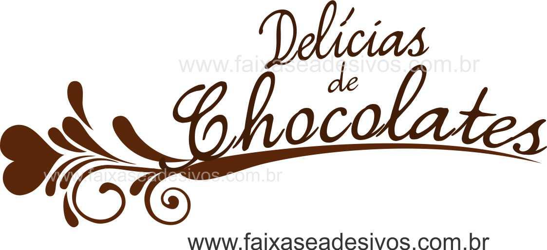 AP419 - Adesivo Decorativo de Páscoa - Delicias de Chocolate  - Fac Signs