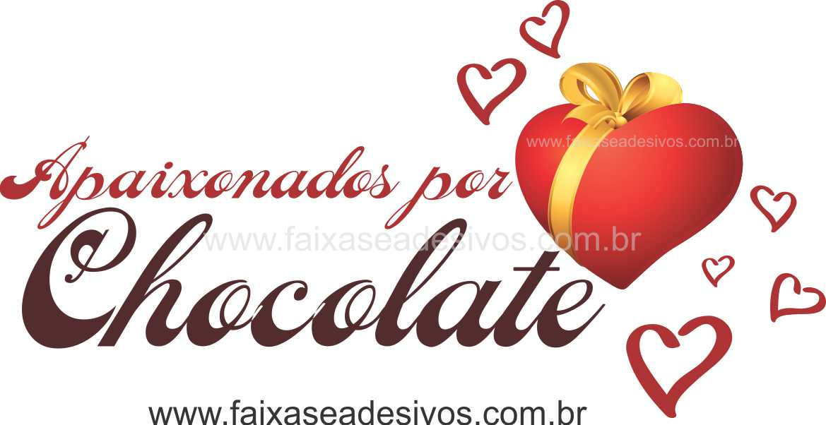 AP420 - Adesivo Decorativo Apaixonados por Chocolate  - FAC Signs Impressão Digital