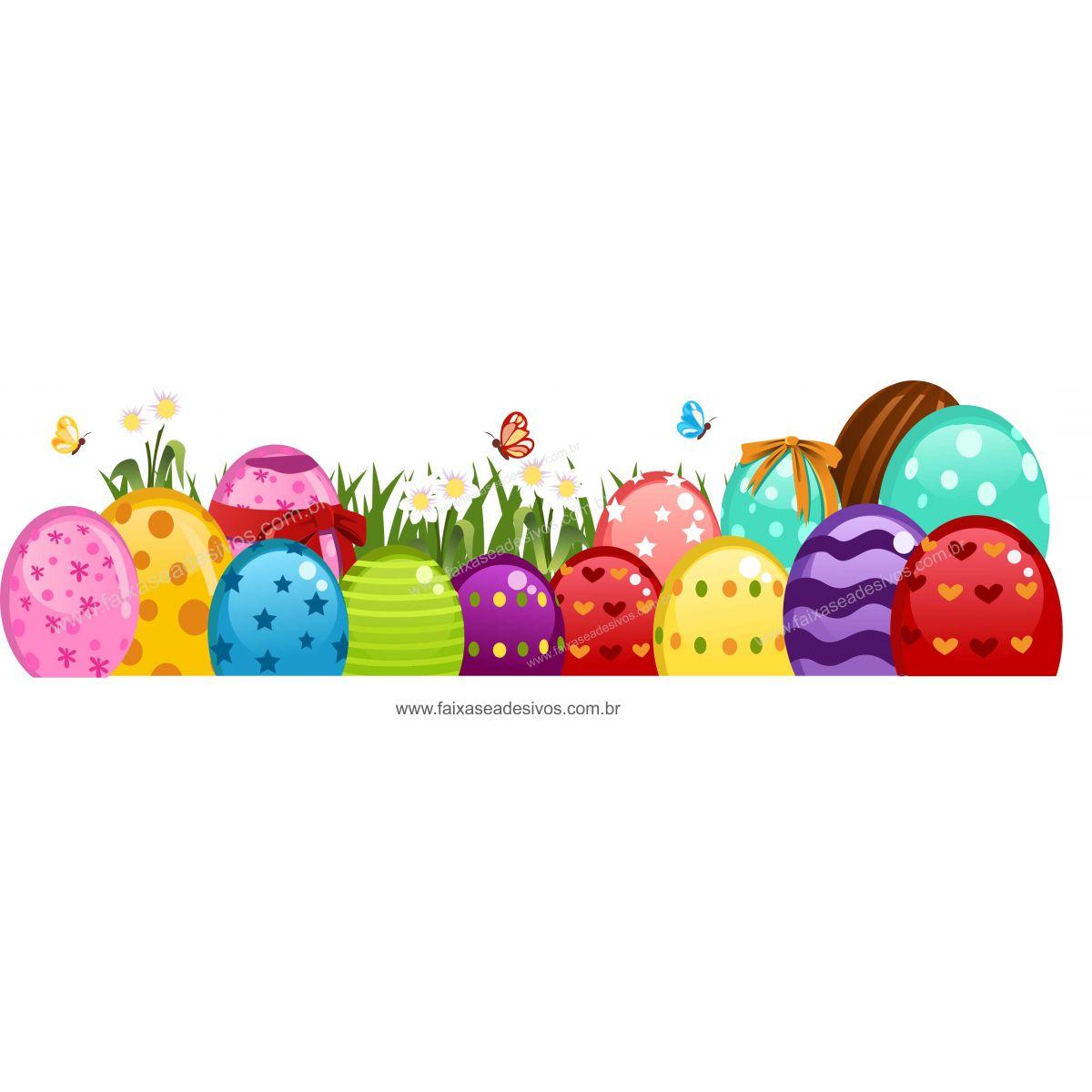 AP424 - Adesivos Decorativos de Páscoa - Barrado Ovos   - Fac Signs