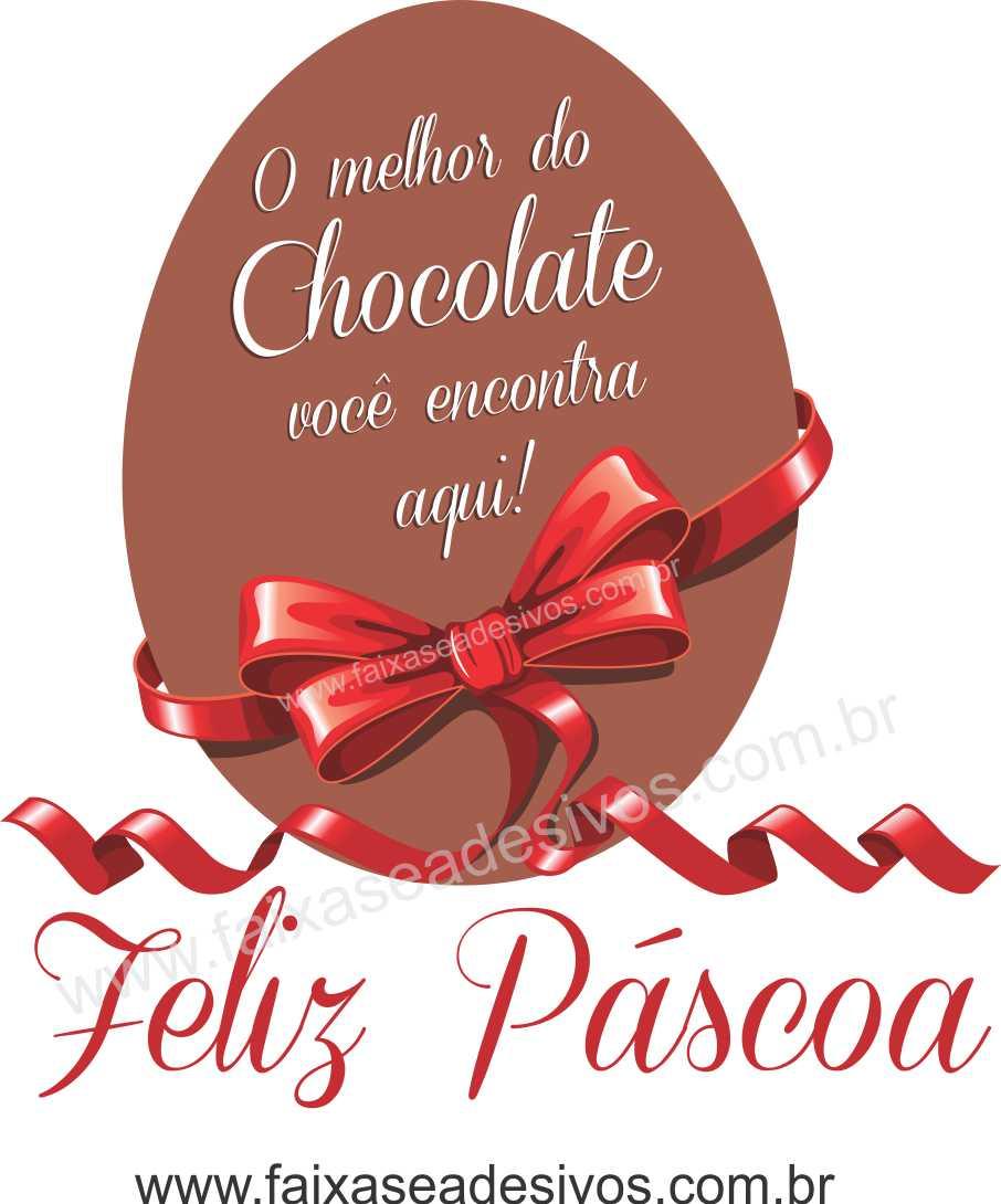 AP427 - Adesivo para Páscoa - ovos de Chocolate  - Fac Signs