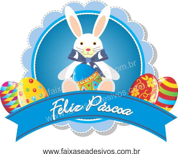 AP429 - Adesivo Decorativo de Páscoa - Boton Azul  - Fac Signs