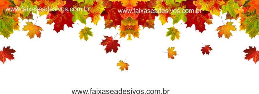A608 - Adesivo Outono Inverno - Cai folhas  - Fac Signs