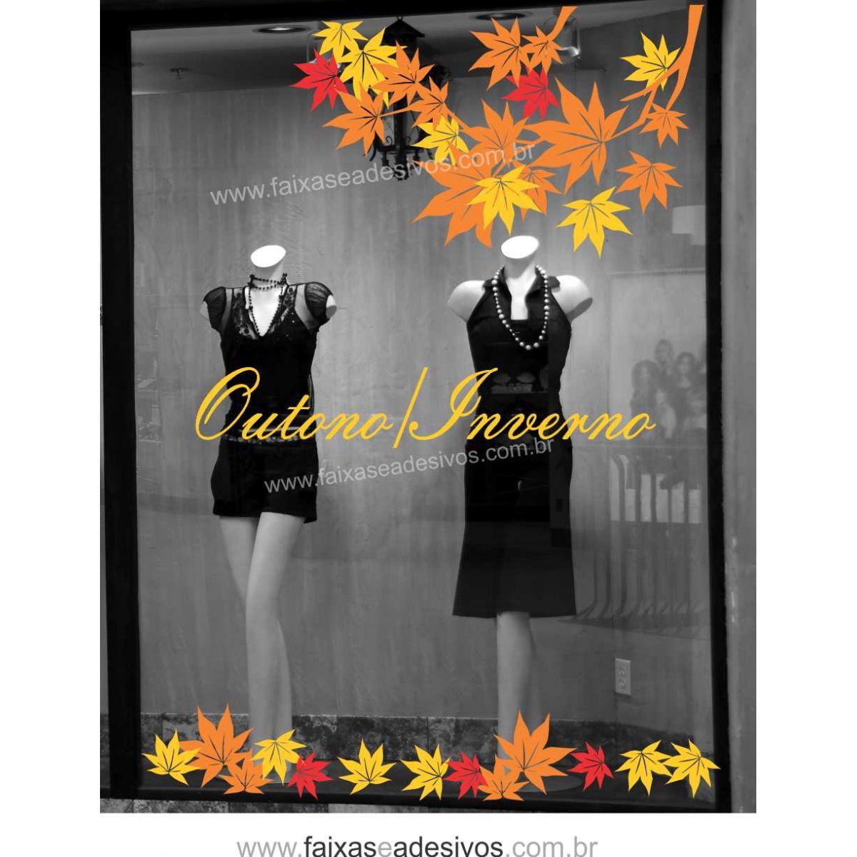 A621 - Adesivo Outono Inverno -Galho de folhas  - Fac Signs