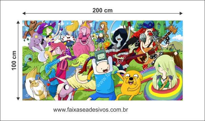 Painel de Aniversário 205 - Hora da Aventura  - Fac Signs