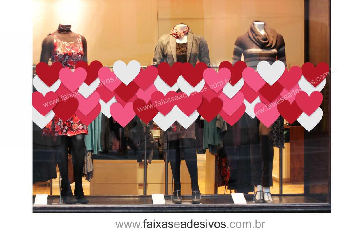 Adesivo Rivastigmina Bula ~ A303N Adesivo Faixa de Corações FAC Signs Impress u00e3o Dig