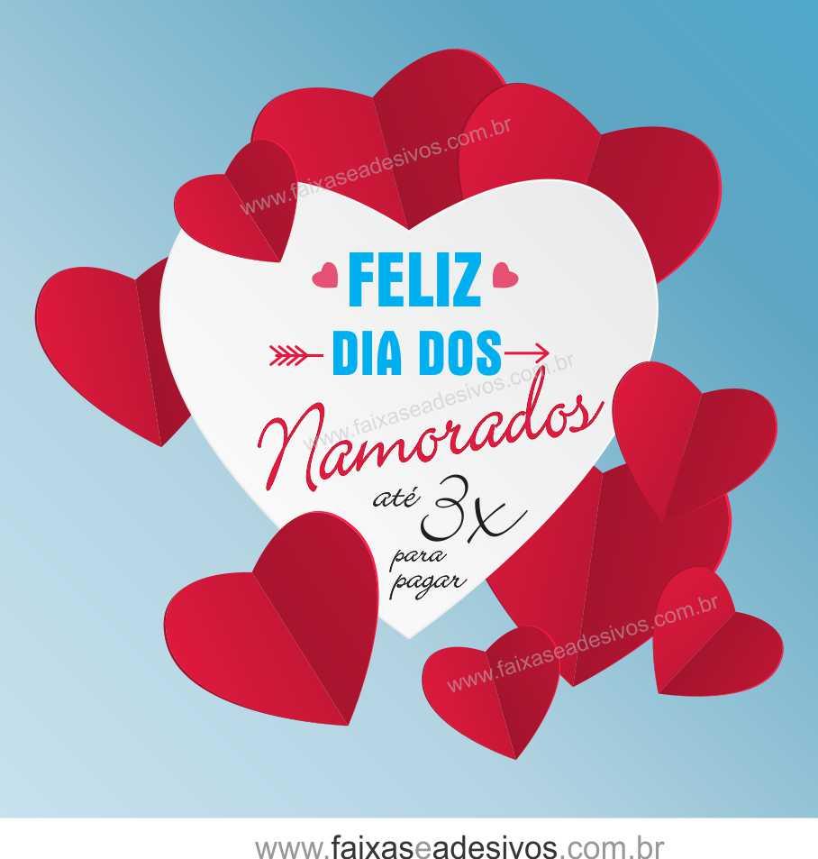 0A305N - Adesivo Dia dos Namorados - Dobradura  - Fac Signs