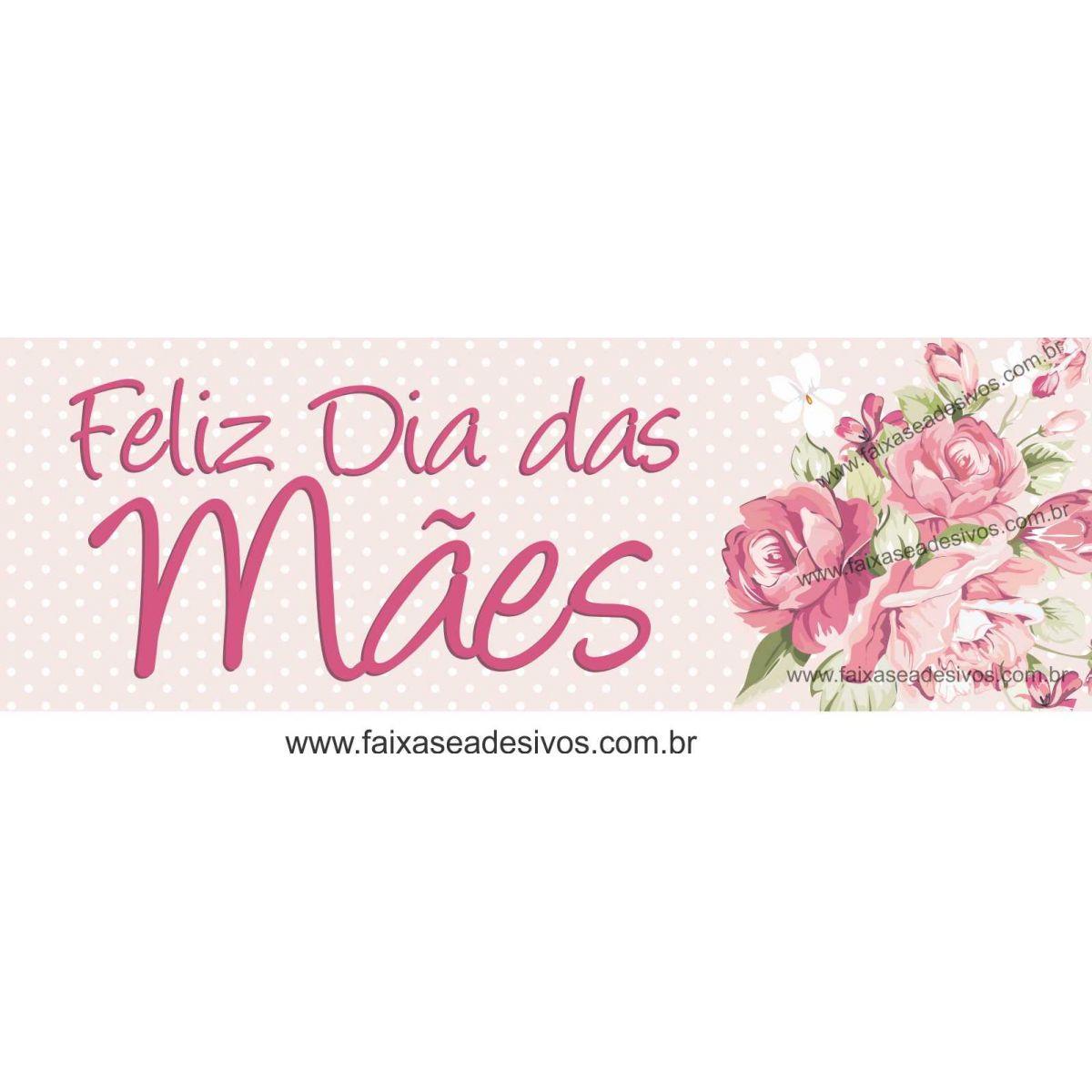 A541M - Adesivo Dia das Mães - Faixa adesiva poá  - Fac Signs