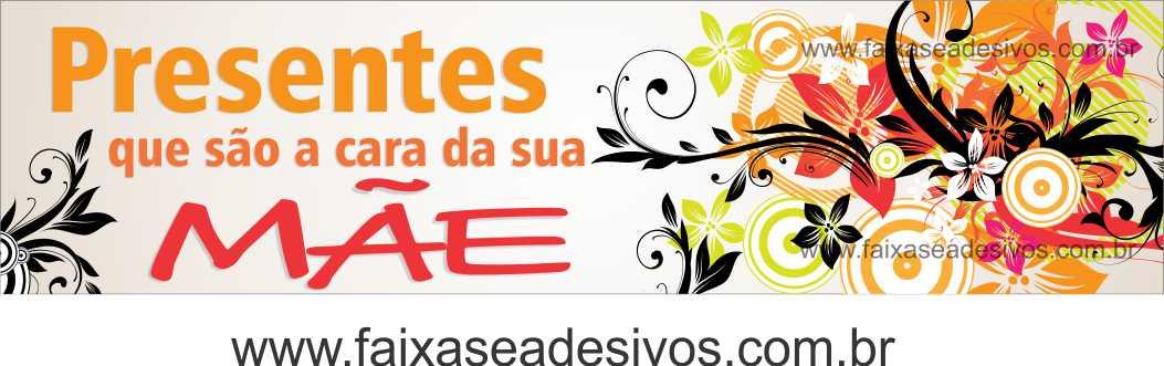 A543M - Adesivo Dia das Mães - Faixa adesiva moderna!  - Fac Signs