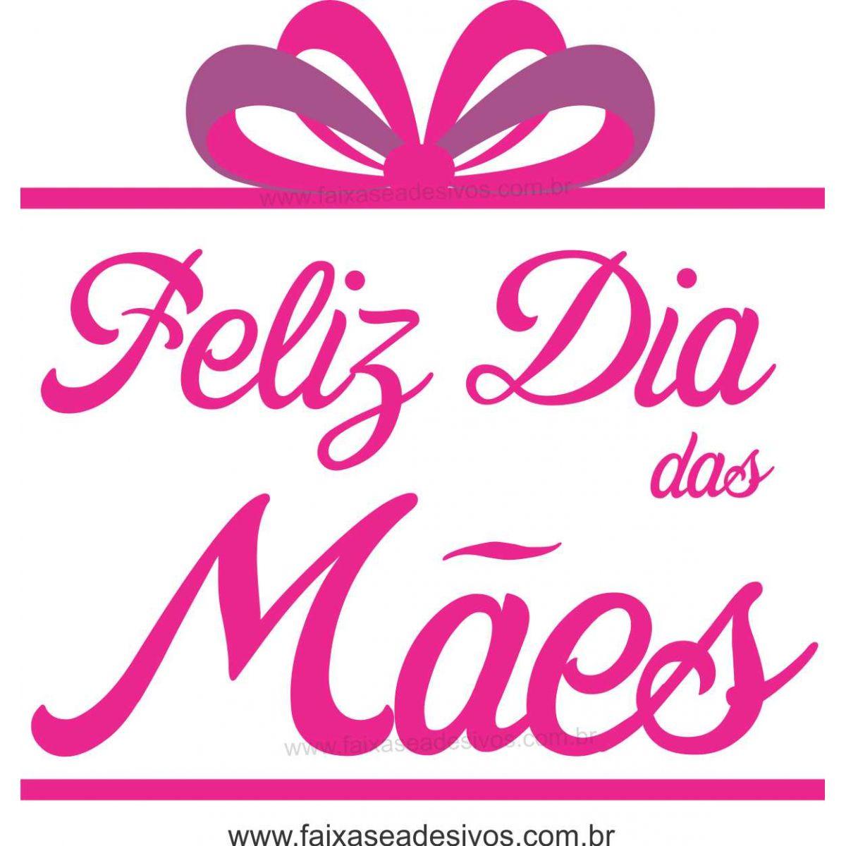 A544M - Adesivo Dia das Mães - Presente de mãe caixa  - FAC Signs Impressão Digital