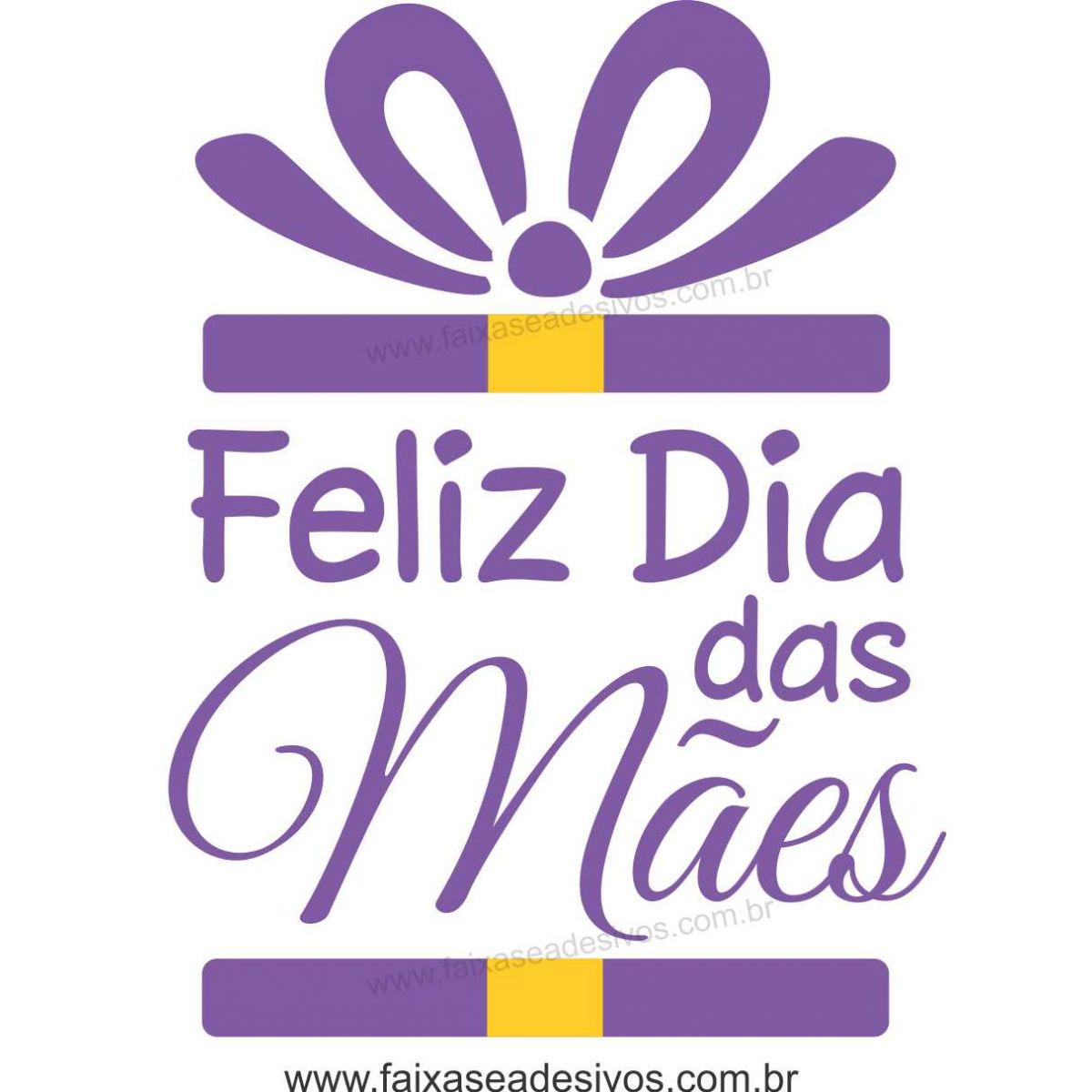 A545M - Adesivo Dia das Mães - Caixa Presente  - Fac Signs