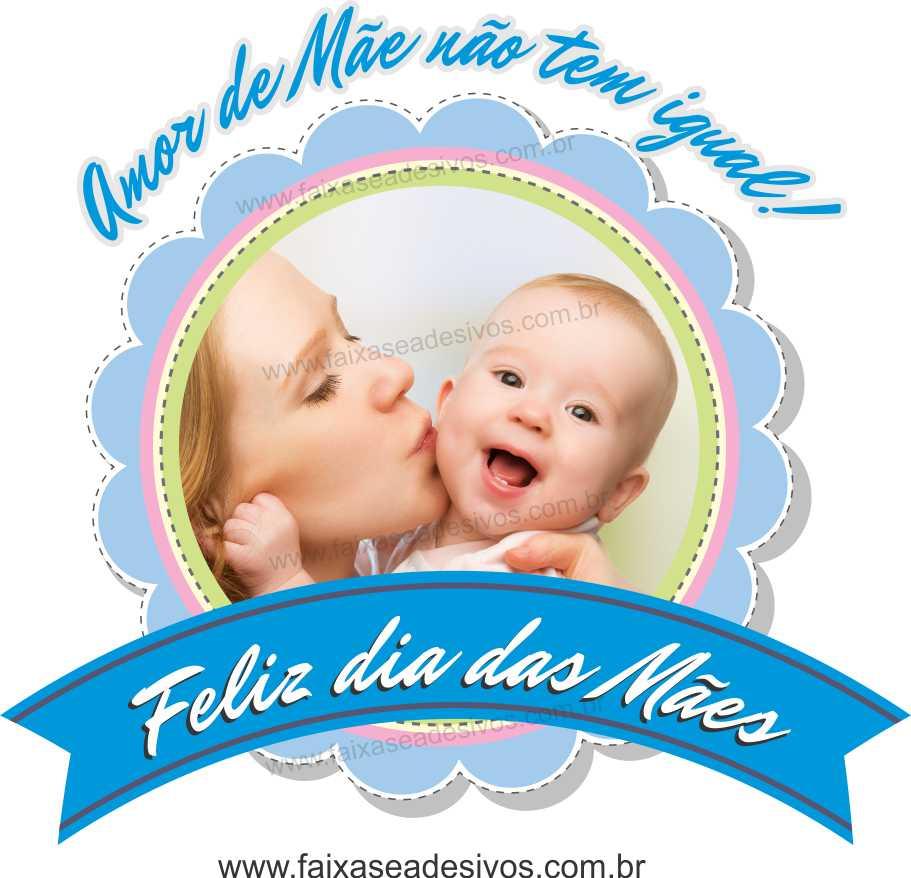 A547M - Adesivo Dia das Mães - Flamula com foto  - Fac Signs