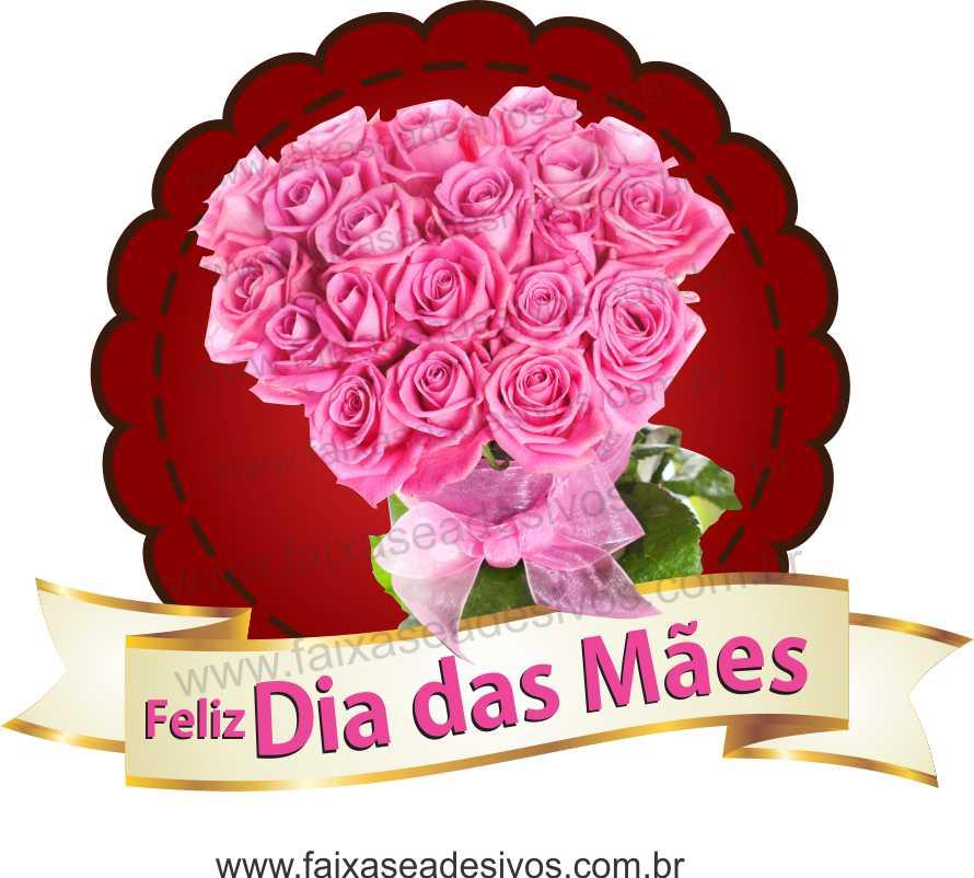 A549M - Adesivo Dia das Mães - Flamula de Rosas  - Fac Signs