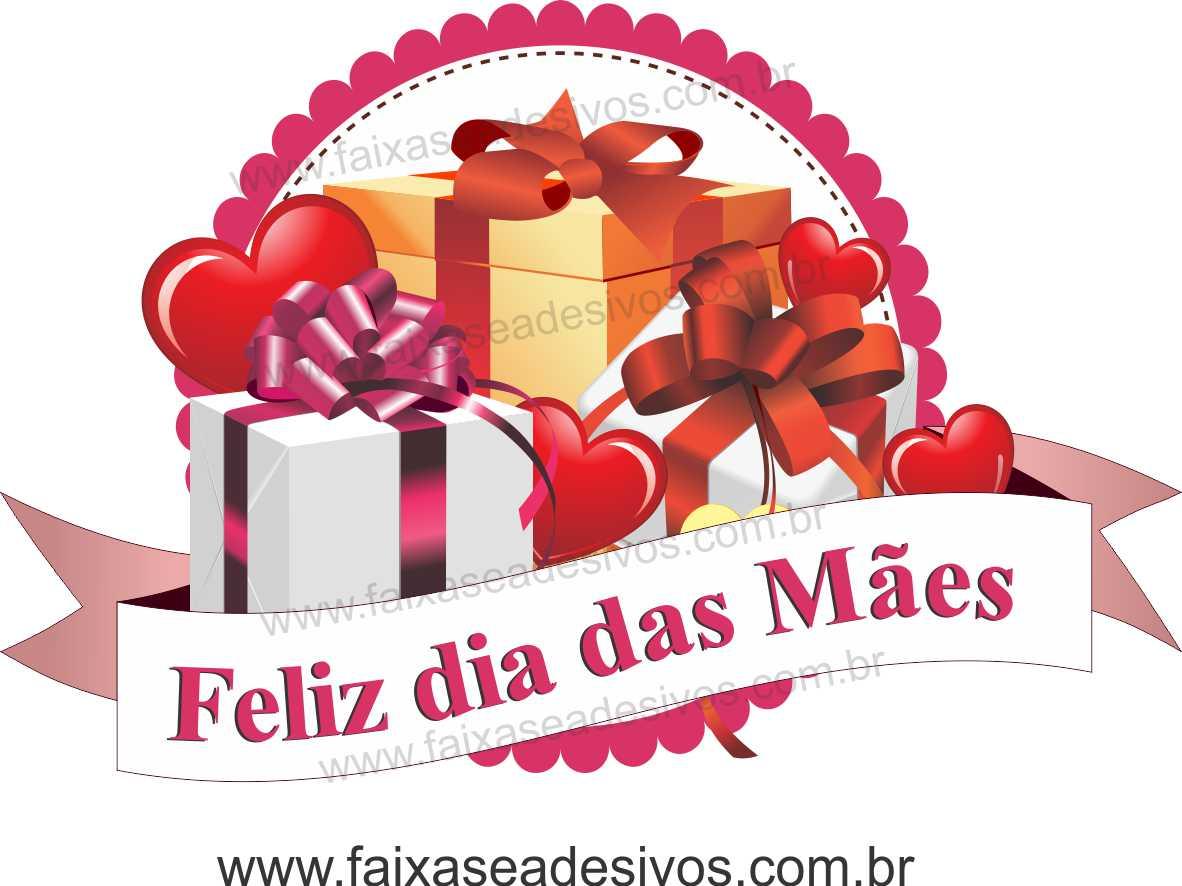 A550M - Adesivo Dia das Mães - Flamula de Presentes  - Fac Signs