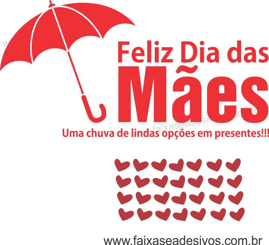 A551M - Adesivo Dia das Mães - Guarda Chuva  - Fac Signs