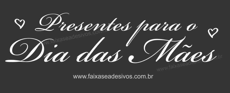 A554M - Adesivo Dia das Mães - Letras Brancas sem fundo A  - Fac Signs