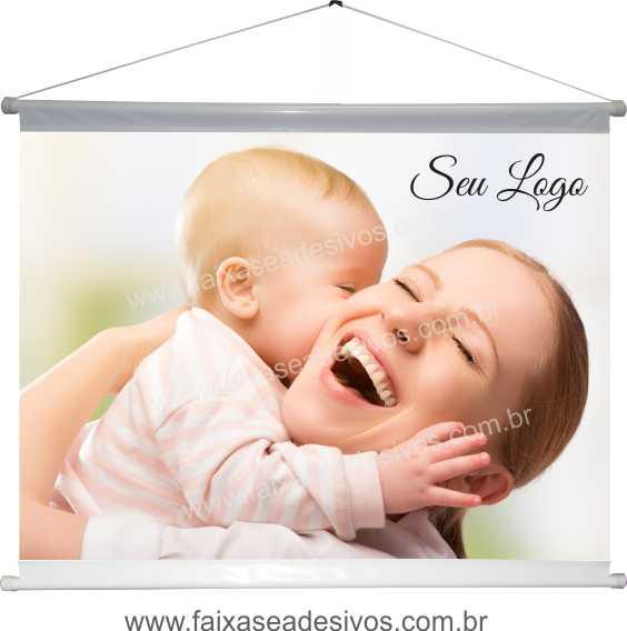 B623M - Dia das Mães - Banner em lona com foto  - Fac Signs